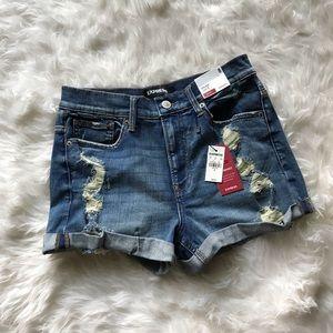 NWT Express Jean Shorts High Rise Shortie